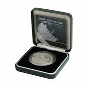 2007 Silver Proof Britannia Single With Certificate